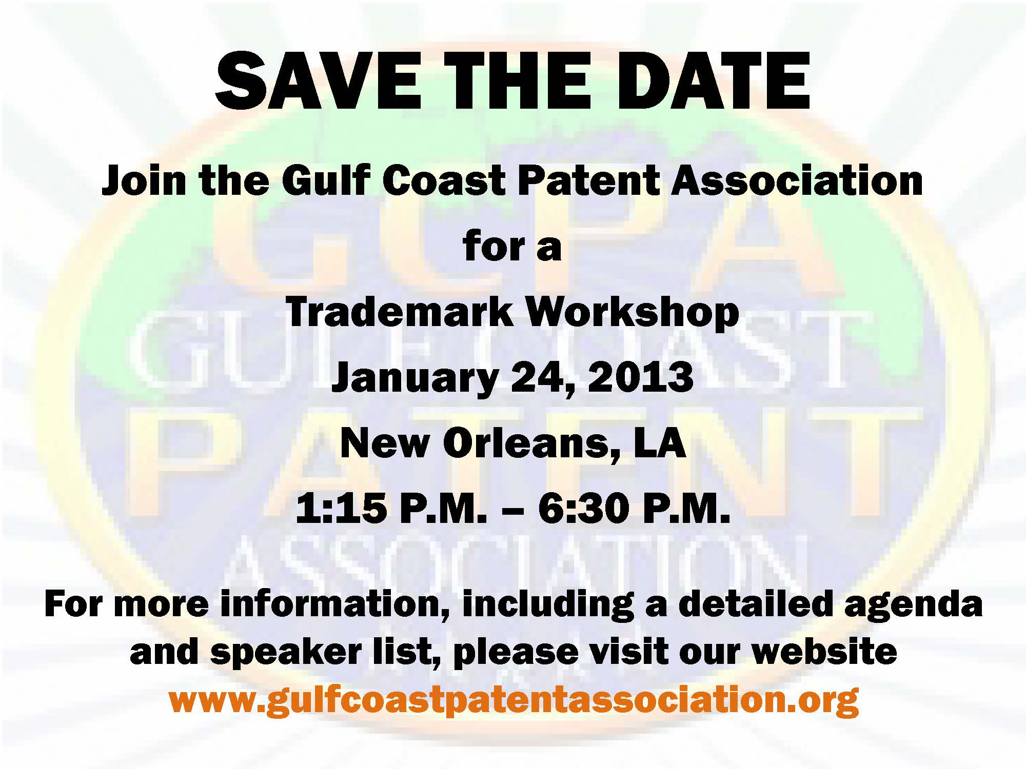 Save the date - Trademark Workshop